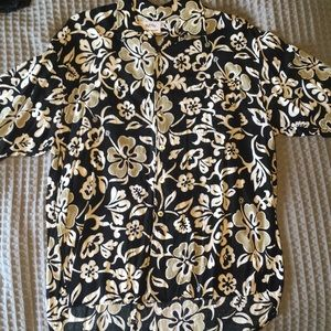 Black and white Vintage Hawaiian Shirt